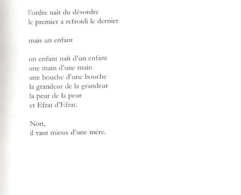 Efrat Mishori, Poem, French. p. 3