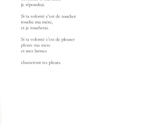 Efrat Mishori, Poem, French. p. 5